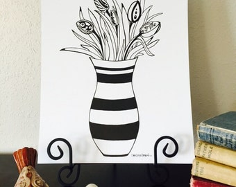 "11""x14"" Tulip Bouquet Print"