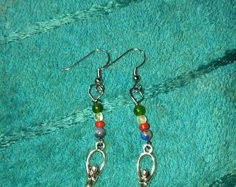 Earth,Air,Fire Water / Goddess earrings