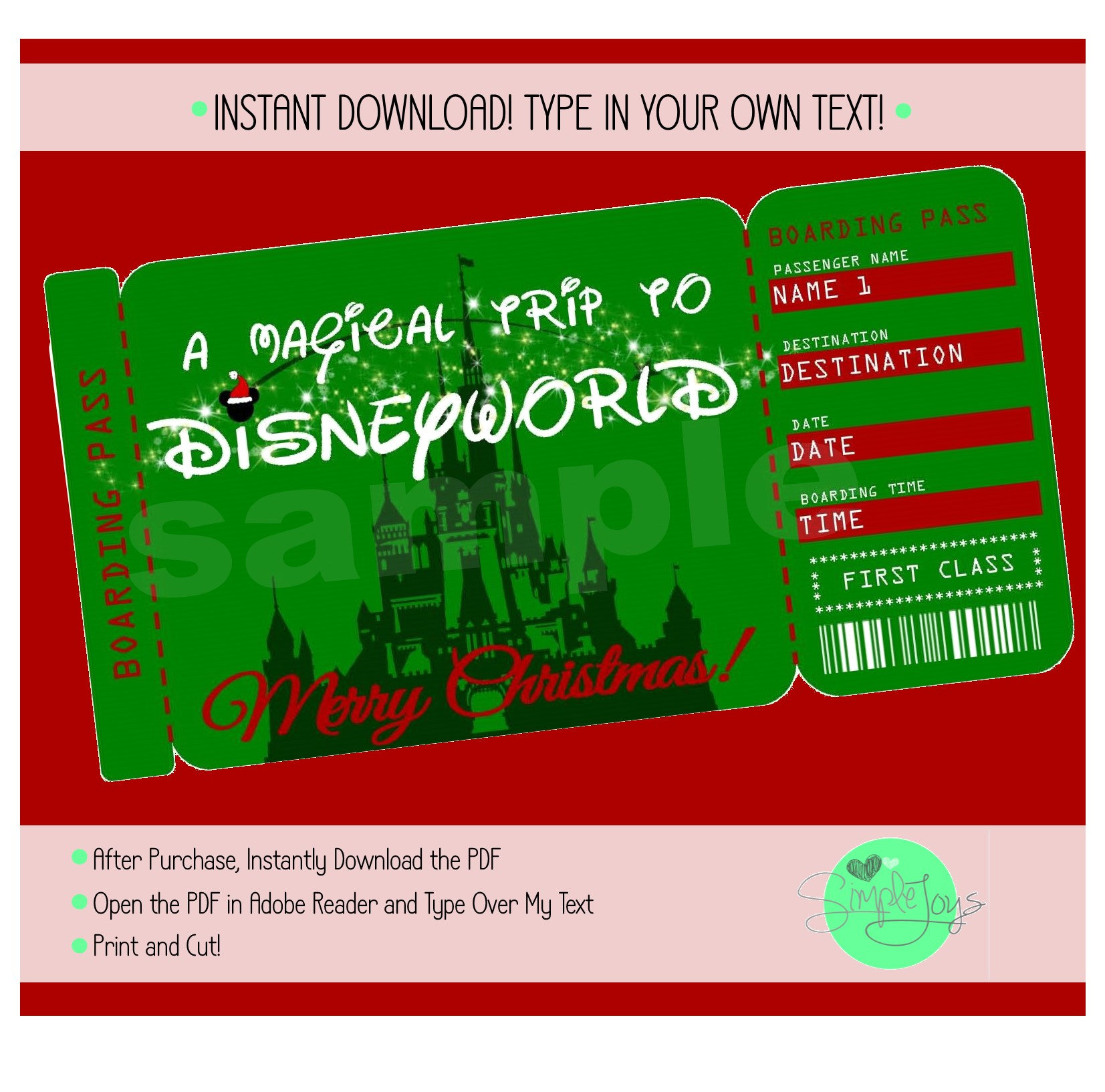 It's just a photo of Luscious Printable Disney Tickets