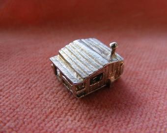 Vintage Sterling Silver Charm Alpine lodge opens