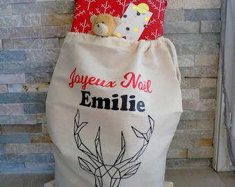 Christmas bag personalized - Christmas gift - pouch Christmas - Christmas gift pouch - bag Christmas name - name pouch