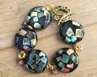 Boho Bracelet, Statement Jewelry, Chunky Bracelet, Bohemian Chunky Jewelry, Disco Jewelry, Everyday Jewelry, Statement Bracelet, Handmade