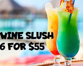 Wine Slush Bundle 6 for 55| Margaritas| Cocktail Party| Wine Gift| Gifts for 21| Wine Drinks| Birthday Gift| Gifts for Her| Drink in Hand