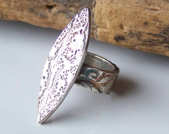 CLEARANCE PMC, PMC Ring, Precious Metal Clay, Size 2, Fine Silver Ring, Stamped Ring, .999 Fine Silver, Unique, Spear, Etsy, Etsy Jewelry