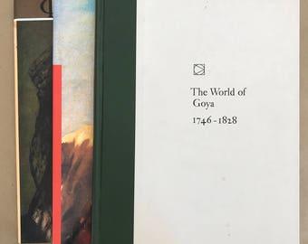 Goya,Vintage Art books,Vintage Books,Collection,art history,gift for art lover,Spanish painter,Francisco Goya,coffee table books,Spanish Art