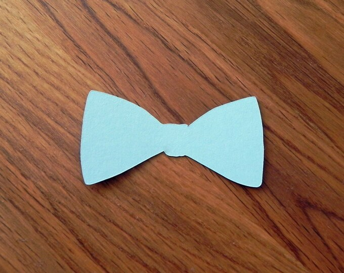 Die Cut Blue Bow Ties (25+) - photo prop party decoration punch cutout card stock