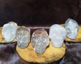 5pc - 501.9g Clear Quartz Crystal Skull Set