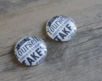 1 cabochon clear 25mm quote by Oscar Wilde