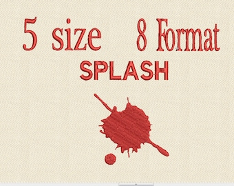 Paint Splatter Machine Embroidery Design