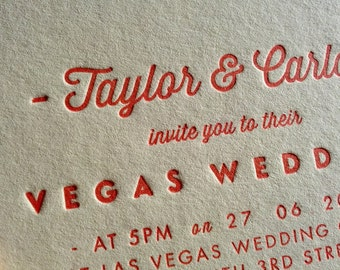 SAMPLE // 'Pearl' Letterpress Wedding Invitations