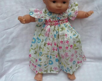 Liberty Mirabelle, dress has smocked doll 36 cm