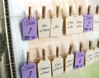 10 labels 3.2 x 5.3 cm for wedding table plan