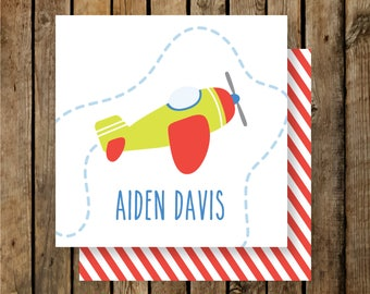 Personalized Calling Cards / Gift Tags / Kids / Airplane