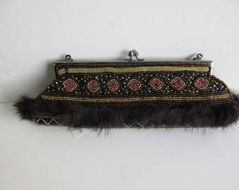 Brocade Embellished Clutch