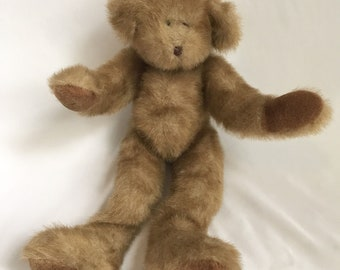 Vtg Teddy Bear 1996 Berkeley Designs Moving Swivel Head Arm Leg Plush Stuffed Animal