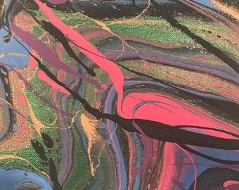 8x10 Panel Fluid Painting