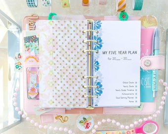 5 YEAR Plan Personal Planner Inserts Printable. Filofax inserts Health Relationships Business Five Years Planning Instant download. 24 PAGES