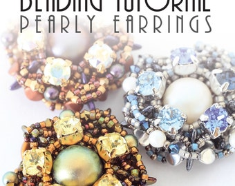 PEARLY EARRINGS TUTORIAL / pdf instant tutorial