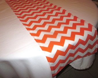 Orange Chevron Table Runner, Halloween,  Wedding, Bridal Shower, Baby Shower, Graduation, Birthday