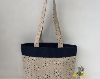 Handbag/shopper - a strong stylish lined bag with top handles and an inner pocket