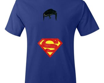 Minimalist Retro Superman Shirt- Superman Shirt - DC Shirt - Comic Shirt - Superhero Shirt