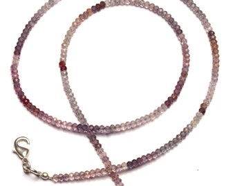 """Natural Gem Multicolor Spinel Faceted 3MM Rondelle Beads 18.5"""" Full Strand Israeli Machine Cut Beads Super Fine Quality Complete Necklace"""