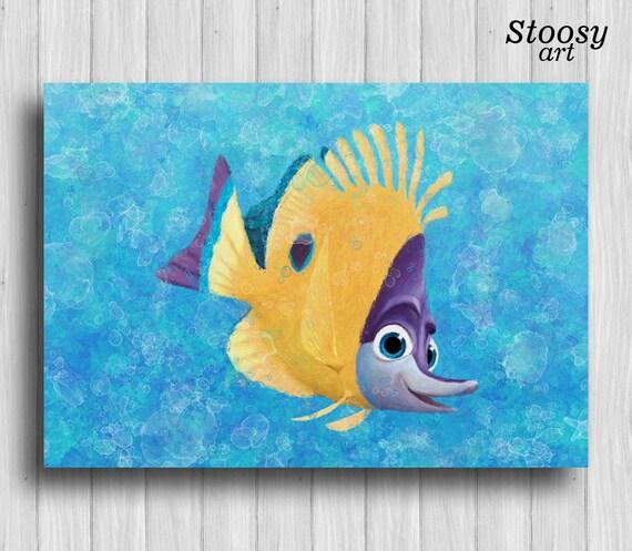 finding nemo wall art nautical poster nursery fishing decor
