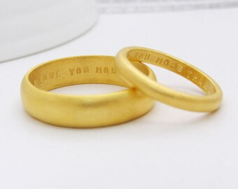 Custom Wedding Bands | Alternative Wedding Bands | Gold Wedding Bands | Personalised Wedding Bands | His & Hers Rings