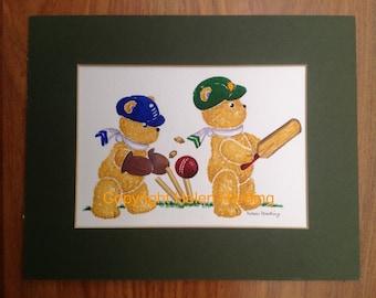 The Ashes - Teddy Teams Play Cricket
