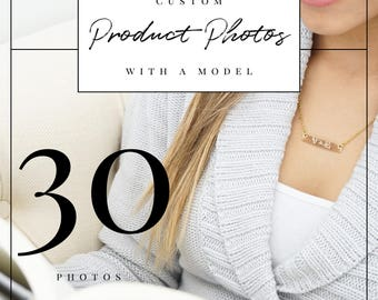 Professional Custom Styled Product Photos with a Model for 10 Products (3 each for a total of 30 photos) | Professional Product Photography
