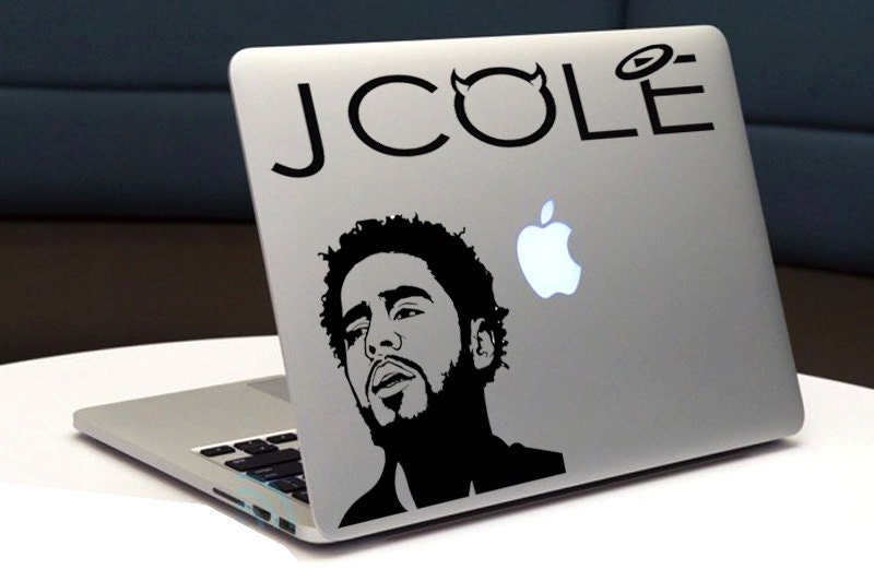 J Cole Car Stickers