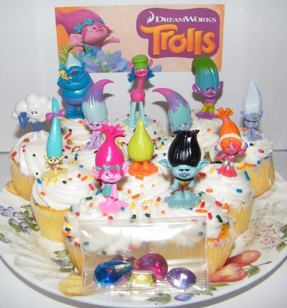 How To Make Mini Troll Cake Toppers