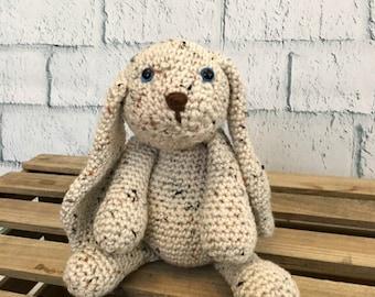 Bunny Rabbit Amigurumi Handmade Toy Crochet Stuffed Animal Natural