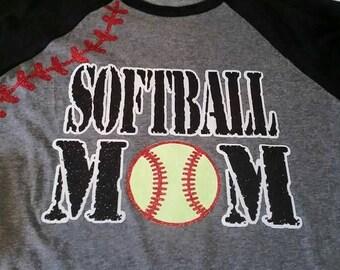 Softball Mom, Softball Shirt, Softball Tank, Softball Mom Shirt, Love My Softball Player, Softball Life, Sports Mom Shirt, Mom Shirt