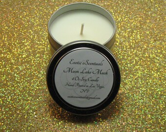 Moon Lake Musk Soy Candle Tin/4 Oz Candle/Musk Candle/Handmade Candle/Container Candle