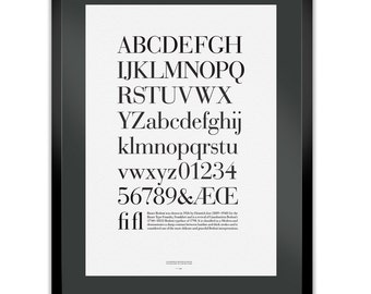 Bauer Bodoni Letterpress Typography Print