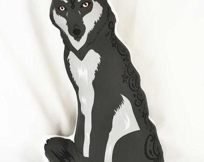 Wolf Doll/Pillow - Black Wolf Rayne Redwolf