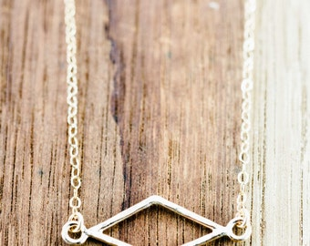 Hokuaonani Necklace - Gold Necklace, Geometric Jewelry, Gold Link Necklace, Simple Necklace, Bohemian Chic, Everyday Necklace,Hawaii Jewelry