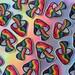 70s Groovy Rainbow Magic Mushroom Iron On Patch Embroidered Patch, Iron On Patch, Sew On Patch, Patches for Jackets