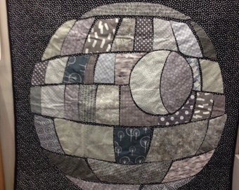 Deathstar Handmade Wallhanging or Quilt