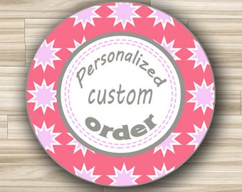 Customized Thank You Round