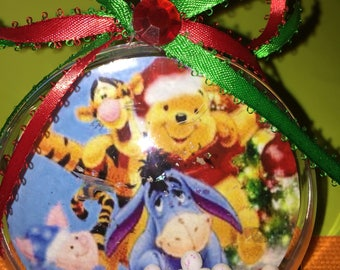 Winnie the Pooh and gang themed ornament