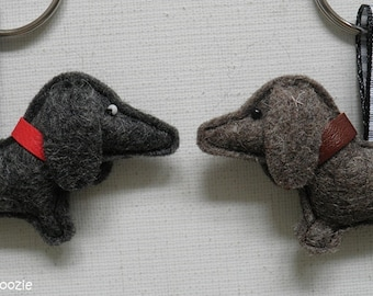 Dachshund keychain 'wire-haired'