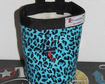 Leopard print chalk bag