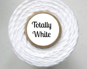 Solid White Bakers Twine by Trendy Twine - Totally White