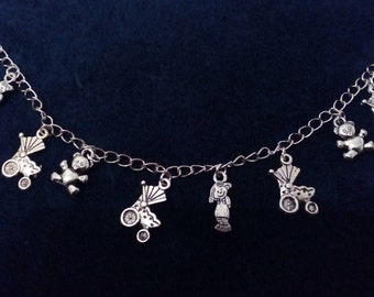 silver bracelet charm for girl or woman, various designs to choose from