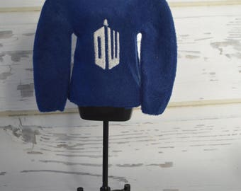 Police Call Box Fleece Elf Sweaters
