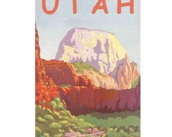 UTAH 2S- Handmade Leather Journal / Sketchbook - Travel Art