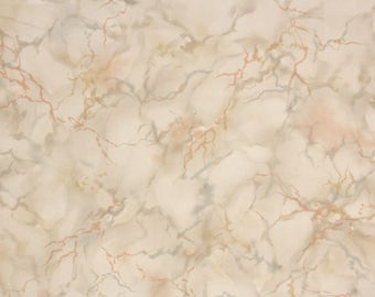 1930s Vintage Wallpaper by the Yard - Faux Finish of Brown and Gray Marble