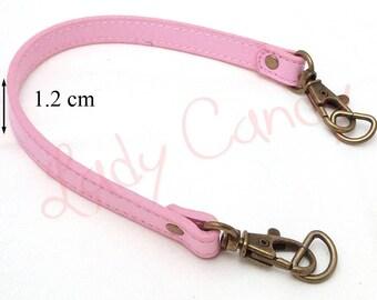 Pink faux leather 34 cm #330038 handle shoulder bag